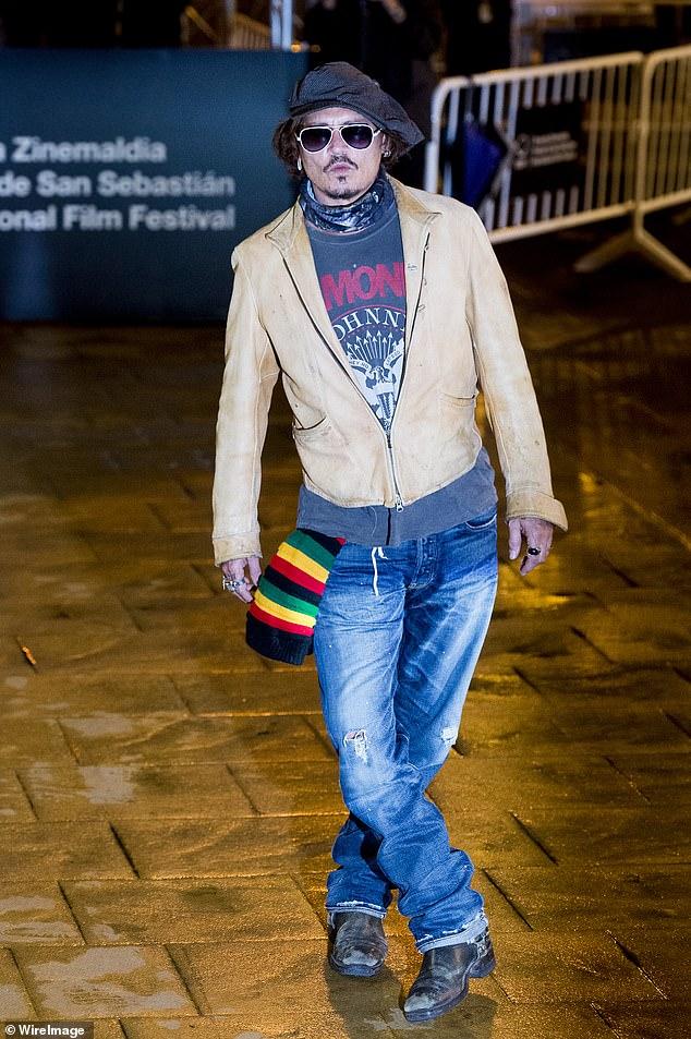 Arrivals:Johnny Depp was seen arriving at the Maria Cristina Hotel during 68th San Sebastian International Film Festival on Saturday
