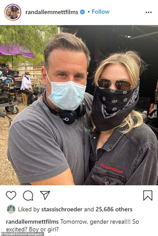 Growing family: The two announced their engagement in September 2018.Randall already shares 10-year-old London and six-year-old Rylee with his ex Ambyr Childers