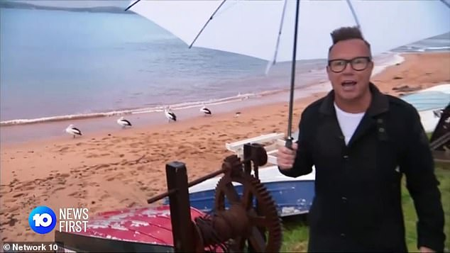 Devastating:Tim was sacked as part of Channel 10's brutal budget cuts last month, after nearly 30 years at the network