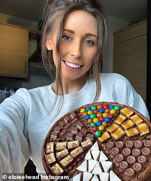 London baker Eloise Head, 26, who built a mammoth Instagram following of 682,000 during lockdown by sharing her simple tricks for making decadent desserts