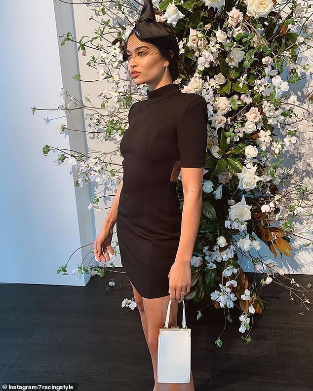 Famous for her fusion of haute couture and racewear, Nerida Winter has created pieces for top models including Melbourne-born Shanina Shaik (pictured)