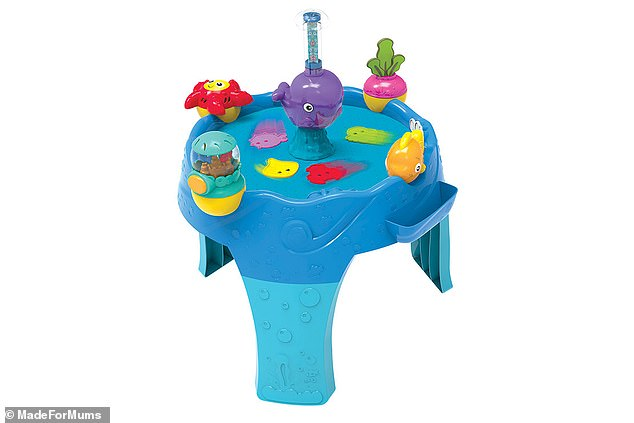 The Lamaze 3 in 1 Airtivity Centre begins as a floor toy, and eventually transforms into an activity table as your baby begins to stand