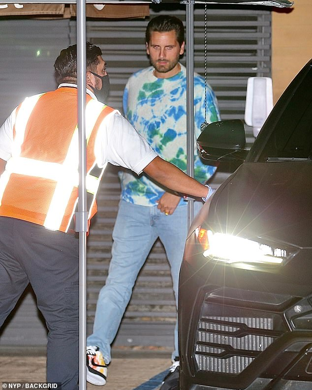 Low-profile: Scott Disick was just seen with his kids in his first family outing since news emerged that Keeping Up With The Kardashians will end in 2021