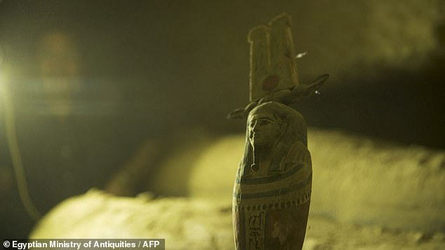 Alongside the wooden sarcophagi, statues and smaller objects were also discovered by the archaeological team.