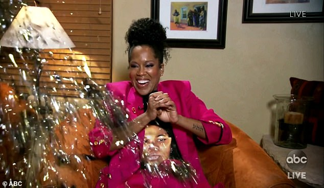 Surprise! The moment Regina King finds out she has won the Lead Actress Award at the Emmy Awards on Sunday evening