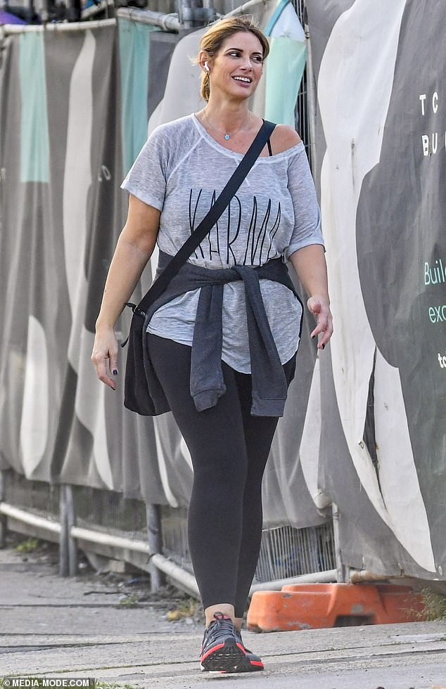 Her new local:The 46-year-old appeared to be familiarizing herself with the local Sydney area she will call home for the show's lengthy filming and production process