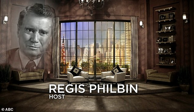 Gone: Daytime chat show host Regis Philbin, who died at age 88 in July, was also remembered in the segment