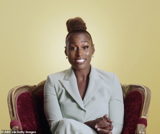 Inspirational:Issa Rae, 35, appeared in a segment during Sunday's Emmy Awards in which she spoke about how she persevered through adversity and racial bias en route to the success she's found with the HBO show Insecure