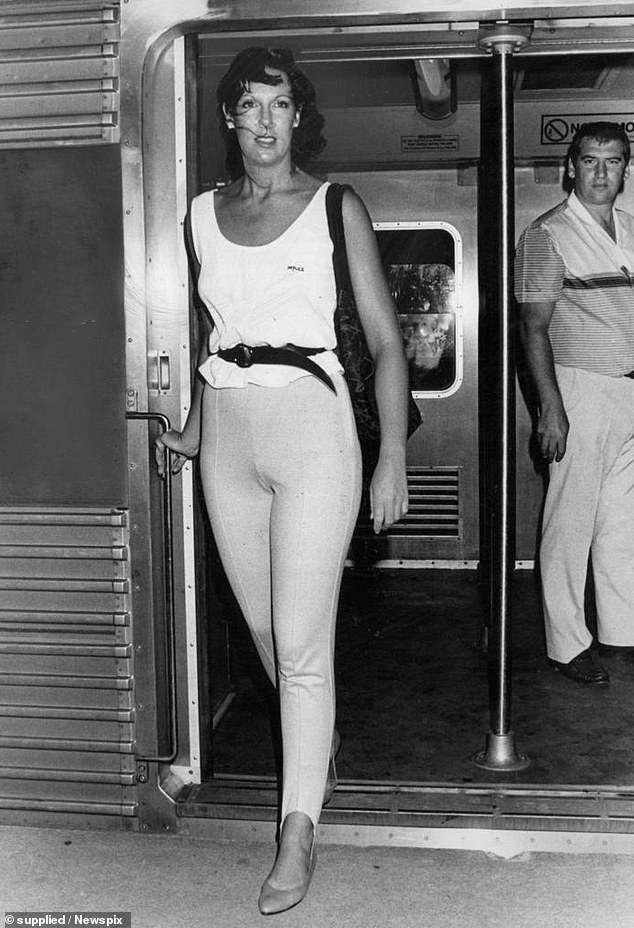 As a young constable working general duties at her first station Wallace was asked by detectives to dress as murdered nurse Anita Cobby and re-enact her final train ride from Central station to Blacktown in February 1986. She is pictured on the train