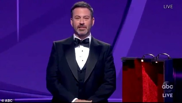 Jimmy Kimmel (pictured) was chosen to host to72nd Primetime Emmy Awards on Sunday, making it the third time he's spearheaded the award show