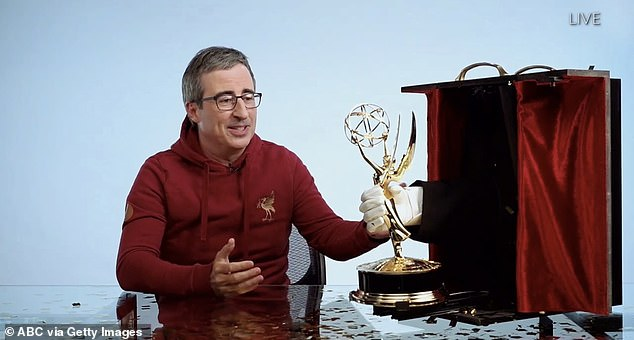 Last Week Tonight with John Oliver has won the Emmy Award forOutstanding Variety Talk Series consecutively over the last five years