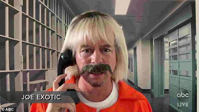 Parody:The final segment was a parody of Tiger King, featuring David Spade dressed up as Joe Exotic, exclaiming, 'I've been in prison because of Carol f***ing Baskin you b***h!'