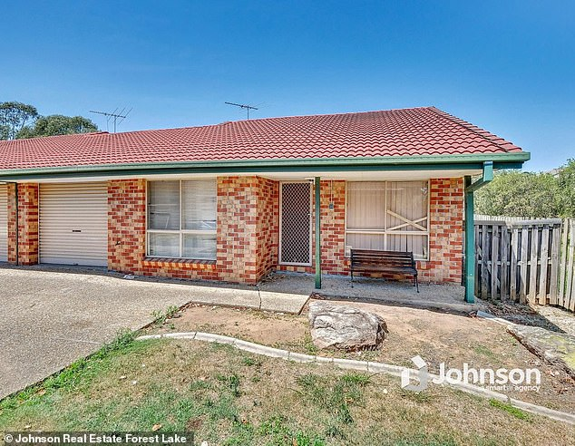 Mr Dilleen bought an Ipswich two-bedroom villa (pictured)  for $133,000 in May