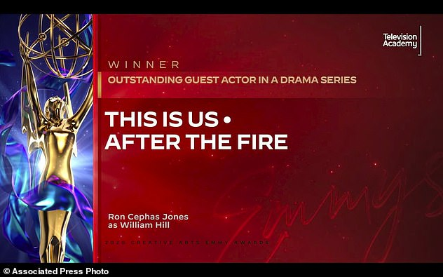 Awkward:  The actor previously bore the brunt of an inadvertent gaffe being incorrectly named as the winner of the Guest Actor Award instead of its intended recipient, This Is Us star Ron Cephas Jones