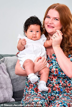 Daisy with her baby daughter Hope