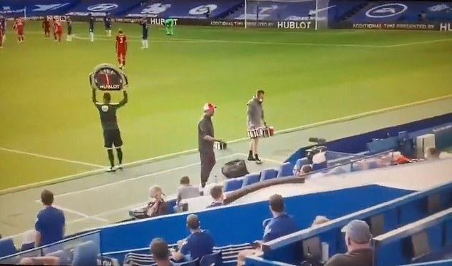 Klopp could be heard berating his coaching staff after Andreas Christensen's red card