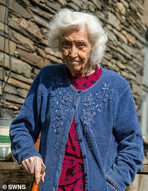 Vera Bunting is set to mark her 100th birthday tomorrow in the Lake District home where she has lived since 1921
