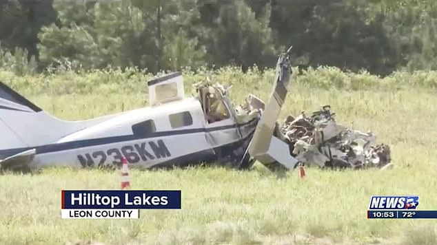 Four people died in the plane crash at Hilltop Lakes, Texas, on Sunday