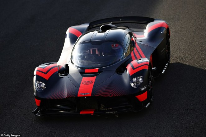 The Aston Martin Valkyrie has been co-developed with the Formula One Red Bull Racing team and is expected to cost between £2million and £3million