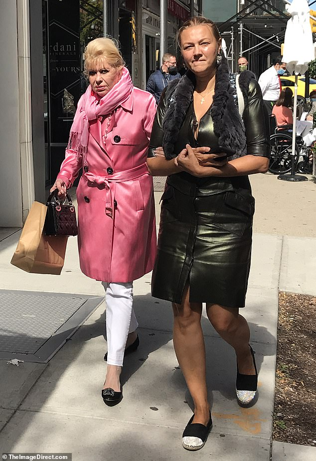 Last days of summer: Ivana Trump, 71, was seen out with a friend on Madison Avenue in New York City on Saturday
