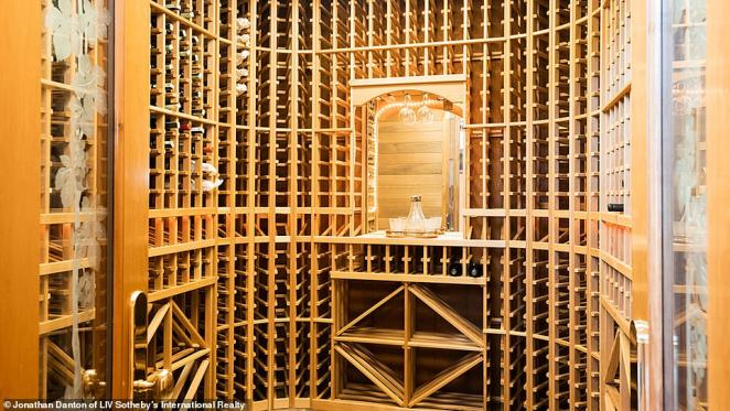 Odak kept his renovations to a minimum after buying the home, but did a 2,000-bottle, temperature-controlled wine cellar