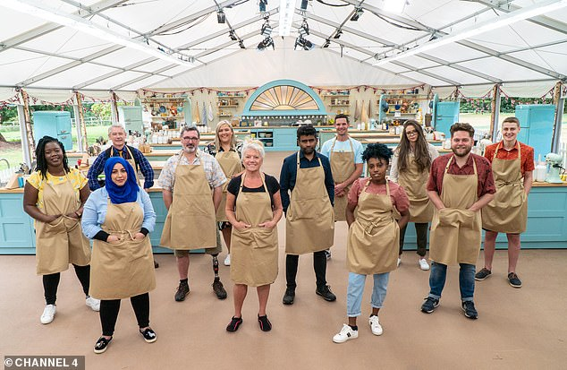 One big bubble: The upcoming series took place at Down Hall Hotel in Essex after five years of filming at Welford Park in Berkshire, with all cast and crew members undergoing regular COVID-19 testing in an isolation bubble amid the pandemic (the 2020 contestants pictured in the tent)