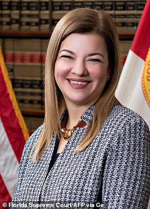 Barbara Lagoa (pictured) is a 'distant second' for the nomination, the sources said
