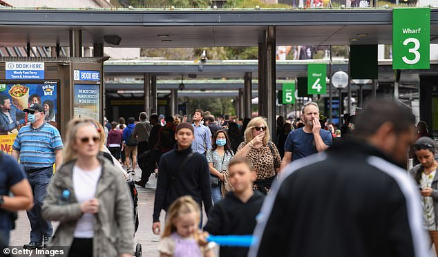 From Friday the JobSeeker payment will drop to $815 as the $550 coronavirus supplement is slashed in half. The coronavirus supplement is scheduled to be scrapped altogether at the end of December. Pictured: Sydneysiders are seen at Circular Quay on September 13