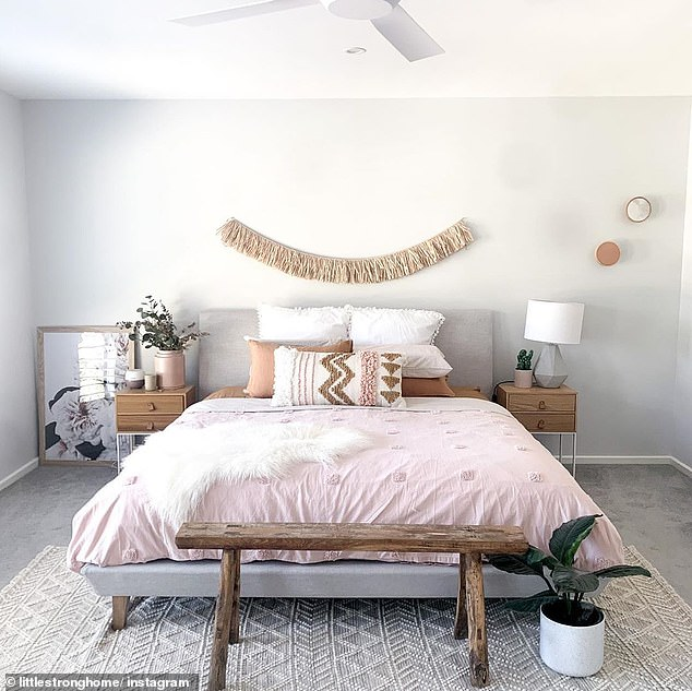 Australians have been styling their homes on a budget (picture of some items from The Reject Shop, including the chic white pot plant)