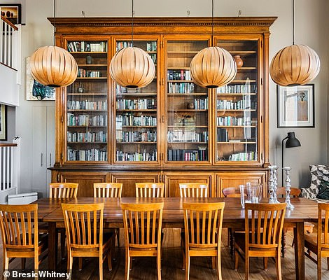 The dining area has ample space for a 12-seater table