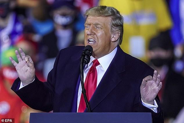 Donald Trump on Monday night told an Ohio rally that suburban women 'love me'