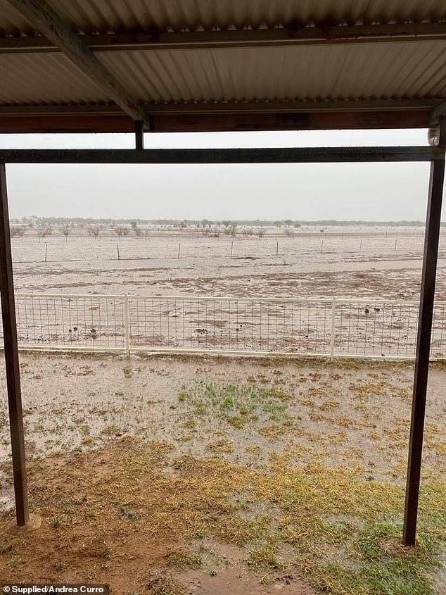 Torrential rain swept across central and western Queensland over the weekend with more than 100mm falling in some areas