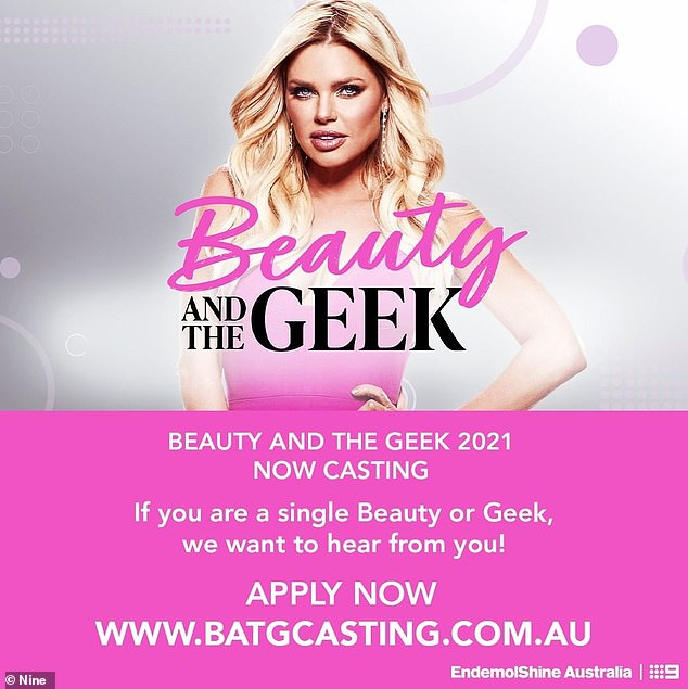 Blonde bombshell Sophie Monk was pictured alongside a casting call for the revived show on production company Endemol Shine Australia's Instagram on Tuesday (pictured)