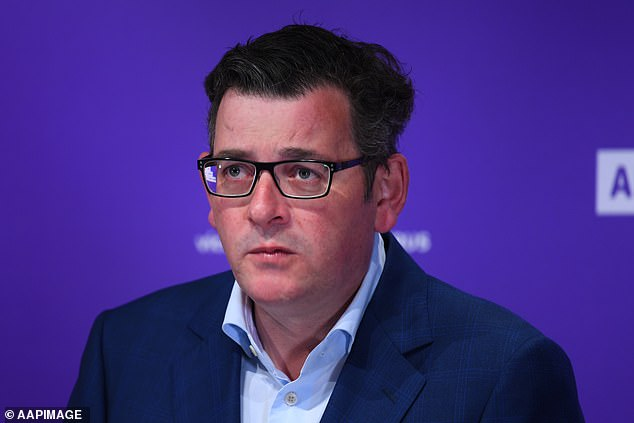 Hitchcock was the latest reporter to test Daniel Andrews' (pictured) patience on Tuesday