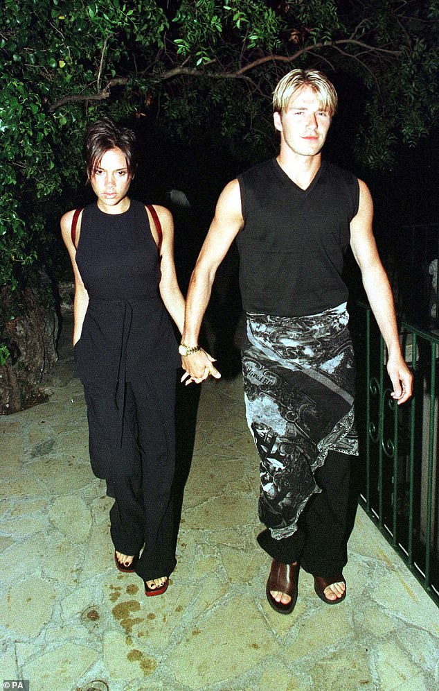 Way back when: Throughout his time in the spotlight, David has become known for his boundary-pushing attitude to style (pictured in 1998, in his now iconic sarong)