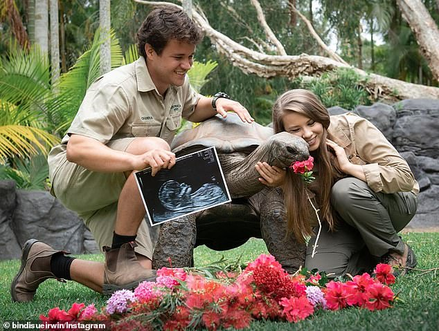 'Baby girl, you are our world!' Pregnant Bindi Irwin revealed she and husband Chandler Powell are expecting a daughter in an Instagram post on Tuesday