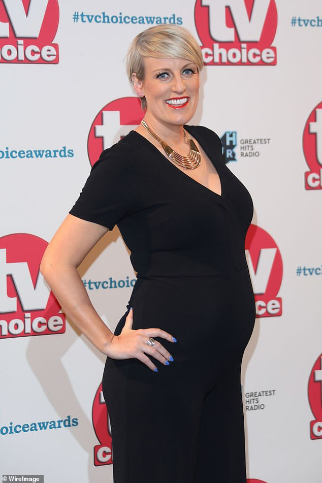 Pregnant Steph in September 2019. The presenter said she never had a big coming out because she did not like labels