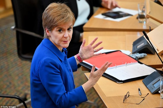 Scottish First Minister Nicola Sturgeon warned that his actions did not go far enough as she banned her countrymen from visiting each other in their own homes in a bid to slash to Covid-19 R rate in Scotland