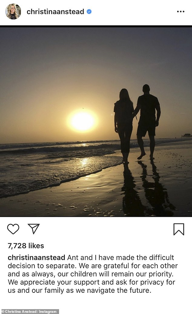 Gasp: Christina recently shocked fans when she revealed her second marriage was coming to an end after being wed for less than two years