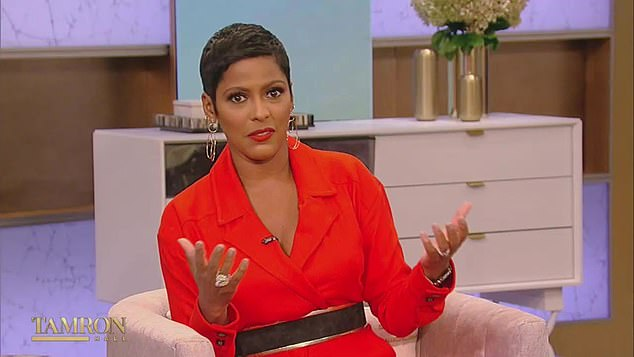 No way: Tamron Hall has hit back at allegations she 'went rogue' while interviewing fired Vanderpump Rules star Stassi Schroeder last week