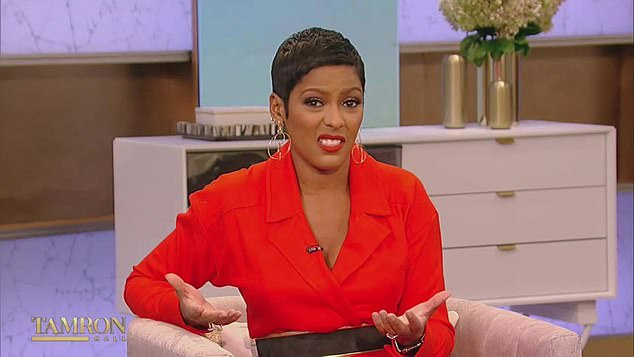 Sorry not sorry: The host of The Tamron Hall Show, 50, spoke about claims Schroeder wasn¿t happy with the interview during Tuesday's episode
