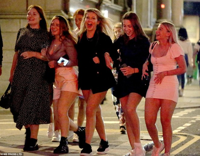A group of students hit the streets in Leeds just hours after the Government announced its tougher measures to help stop the spread of coronavirus