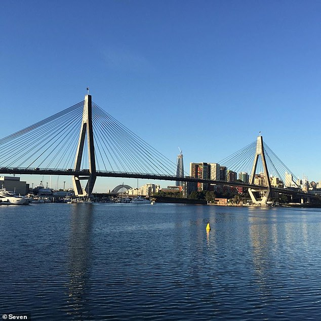 The Anzac Bridge (pictured) displays both the Australian and new Zealand flags on the two towers above the motorway