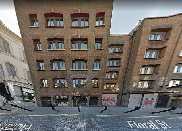 Fortune: The pop star has also recently acquired two expensive flats down Floral Street in Covent Garden (stock image of Floral Street pictured above)