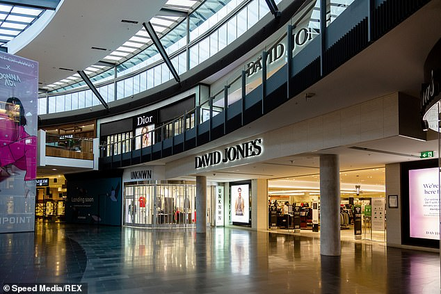The David Jones store in Highpoint Shopping Centre in Melbourne. The national department store chain will reduce its floor space by 20 per cent, meaning that nine to ten stores could be closed down