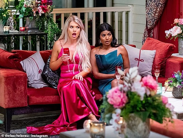 Warning: A contestant, speaking on the condition of anonymity, told Daily Mail Australia she was told she would have 'no chance' of appearing on Bachelor in Paradise if she broke her contract. Pictured: Kaitlyn Hoppe and Areeba Emmanuel