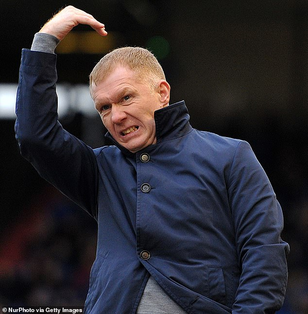Paul Scholes, 45, could face a fine of £3,200 after he was filmed hosting a five-a-side tournament at his mansion in Oldham