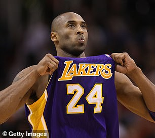 In an ode to late basketball legend Kobe Bryant (pictured left on the court in 2012), Kobe was the most popular dog name