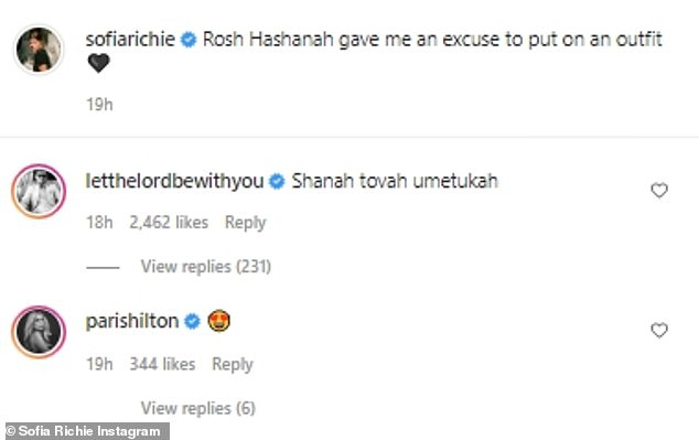 Hello:It didn't take much time for her ex-boyfriend Scott Disick to send his well-wishes despite not following Richie on social media