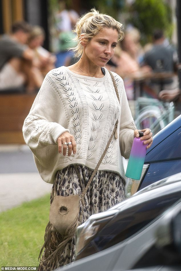 Chic: Elsa often wears floaty boho ensembles, and it was no different for her breakfast date on Wednesday